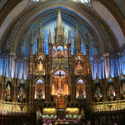 Cathedral in Montreal