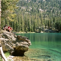 Sawtooth Mountain lake, Idaho